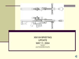 XM109 BRIEFING UPDATE MAY 11, 2004 PRESENTED BY BOB GATES VICE PRESIDENT BUSINESS DEVELOPMENT