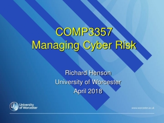 COMP3357 Managing Cyber Risk