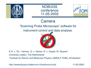 NOBUGS  conference 11-05-2002