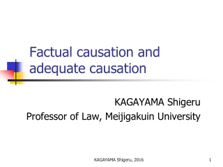 Factual causation and adequate causation