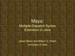 Maya: