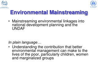 Environmental Mainstreaming