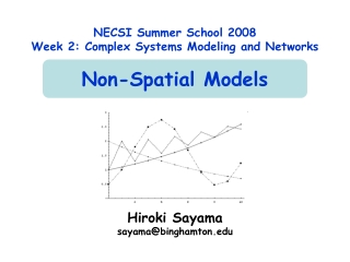 NECSI Summer School 2008 Week 2: Complex Systems Modeling and Networks Non-Spatial Models