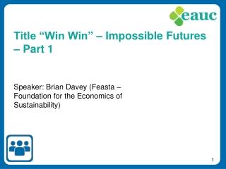 Speaker: Brian Davey (Feasta – Foundation for the Economics of Sustainability)
