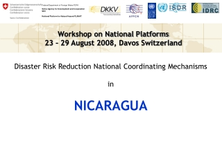 Disaster Risk Reduction National Coordinating Mechanisms in NICARAGUA