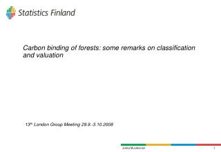 Carbon binding of forests: some remarks on classification and valuation