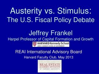 REAI International Advisory Board Harvard Faculty Club, May 2013