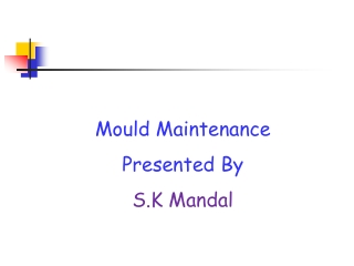 Mould Maintenance Presented By S.K Mandal