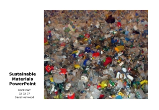 Sustainable Materials PowerPoint