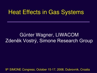 Heat Effects in Gas Systems