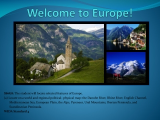 Welcome to Europe!
