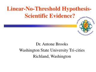 Dr. Antone Brooks Washington State University Tri-cities Richland, Washington