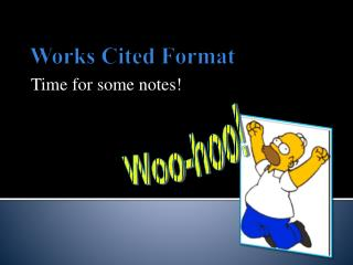 Works Cited Format