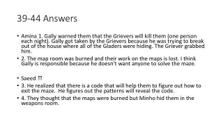 39-44 Answers