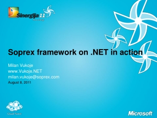 Soprex framework on .NET in action