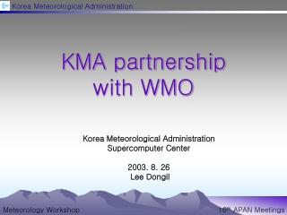 KMA partnership  with WMO