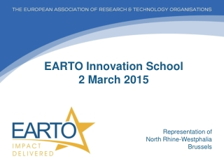 EARTO Innovation School 2 March 2015