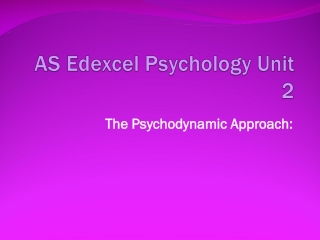 AS Edexcel Psychology Unit 2