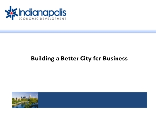 Building a Better City for Business