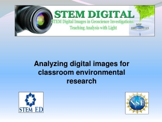 Analyzing digital images for classroom environmental research
