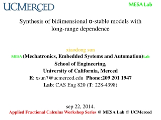 Synthesis of bidimensional  α -stable models with long-range dependence
