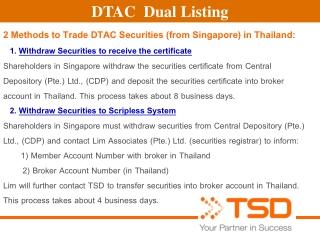 DTAC  Dual Listing