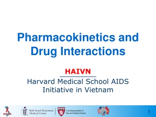 Pharmacokinetics and Drug Interactions