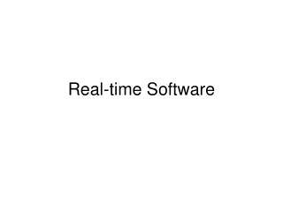 Real-time Software