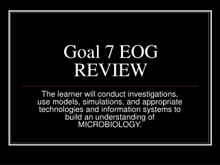 Goal 7 EOG REVIEW
