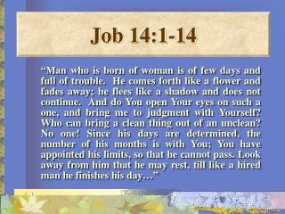 Job 14:1-14