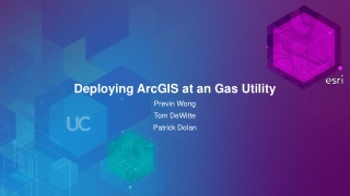 Deploying ArcGIS at an Gas Utility