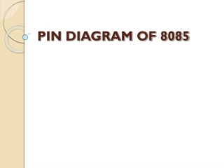 PIN DIAGRAM OF 8085