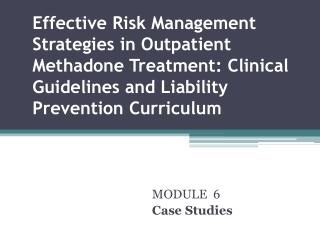 MODULE  6 Case Studies