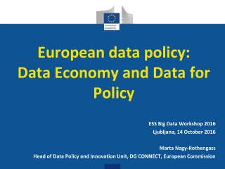 European data policy: Data Economy and Data for Policy