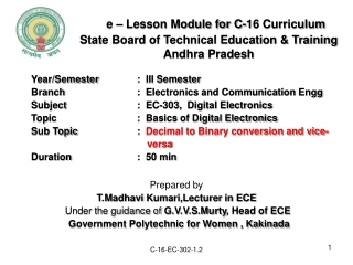 State Board of Technical Education & Training Andhra Pradesh