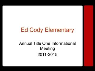 Ed Cody Elementary
