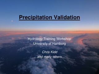 Precipitation Validation