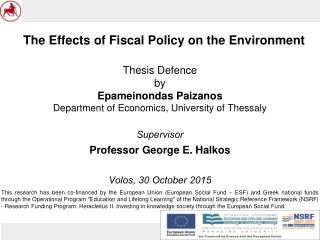 The Effects of Fiscal Policy on the Environment