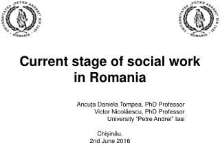 Current stage of social work in Romania