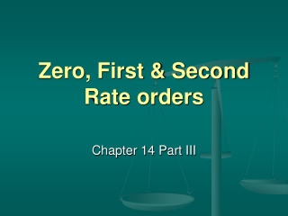 Zero, First & Second Rate orders