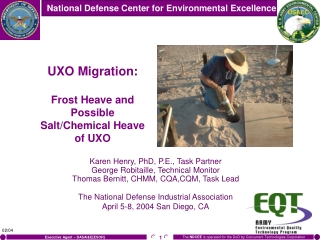 UXO Migration: Frost Heave and Possible Salt/Chemical Heave of UXO