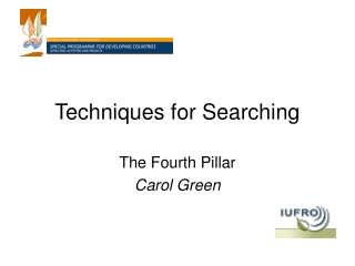 Techniques for Searching