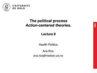 The political process Action-centered theories. Lecture 8