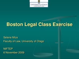 Boston Legal Class Exercise