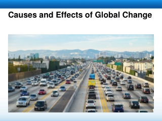 Causes and Effects of Global Change