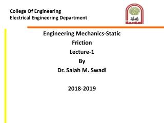 College Of Engineering  Electrical Engineering Department