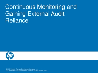 Continuous Monitoring and Gaining External Audit Reliance