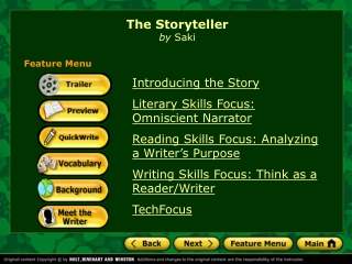 Introducing the Story Literary Skills Focus: Omniscient Narrator