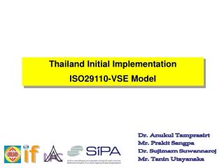 Thailand Initial Implementation  ISO29110-VSE Model
