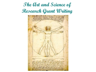 The Art and Science of Research Grant Writing